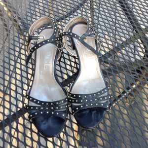 AGL studded black sandal